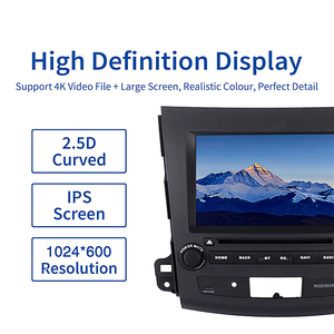 "Image 2 - Dasaita 2 Din 8"" Android 10.0 For Mitsubishi Outlander Peugeot 4007 Citroen C Cross 2007 2008 2009 2010 2011 Car DVD Audio 1080P"
