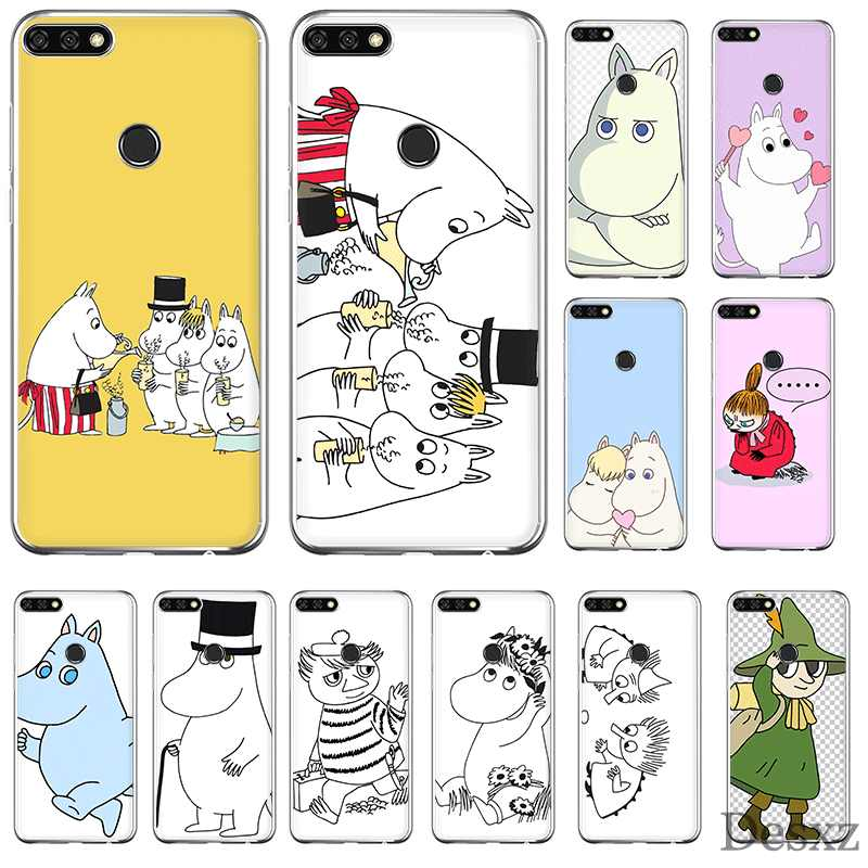 Mobile Phone Case TPU For Huawei P30 P20 P10 P8 P9 Lite Pro Huawei P Smart Z Plus Cover Cute Lovely Hippo Moomin Shell