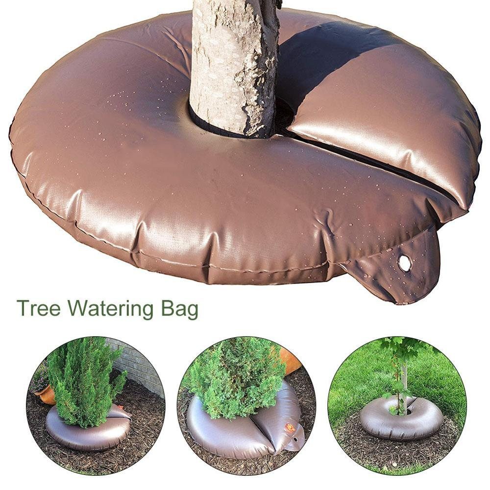 15-Gallon Slow-Release Tree Watering Ring Bag Irrigation Of Automatic Drip Planting Trees Garden Water Sprinkler Dripper Shrubs