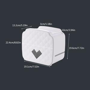 Image 5 - ウォールマウントトイレットペーパーホルダー収納ボックストイレットペーパートレイ防水浴室ティッシュボックスロール紙管バスルームオーガナイザー