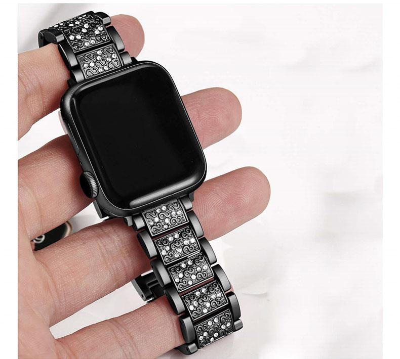 Bracelet Apple Watch Femme Sertie de Cristaux
