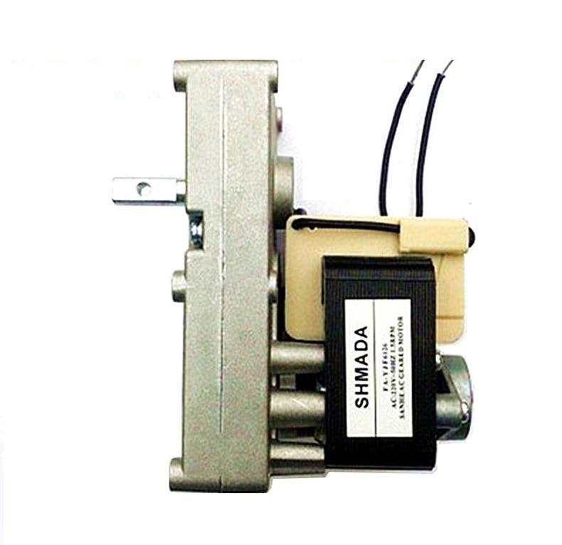 AC1.5 turn AC shaded pole geared motor pellet fireplace boiler feed feeding barbecue rotating motor 220V
