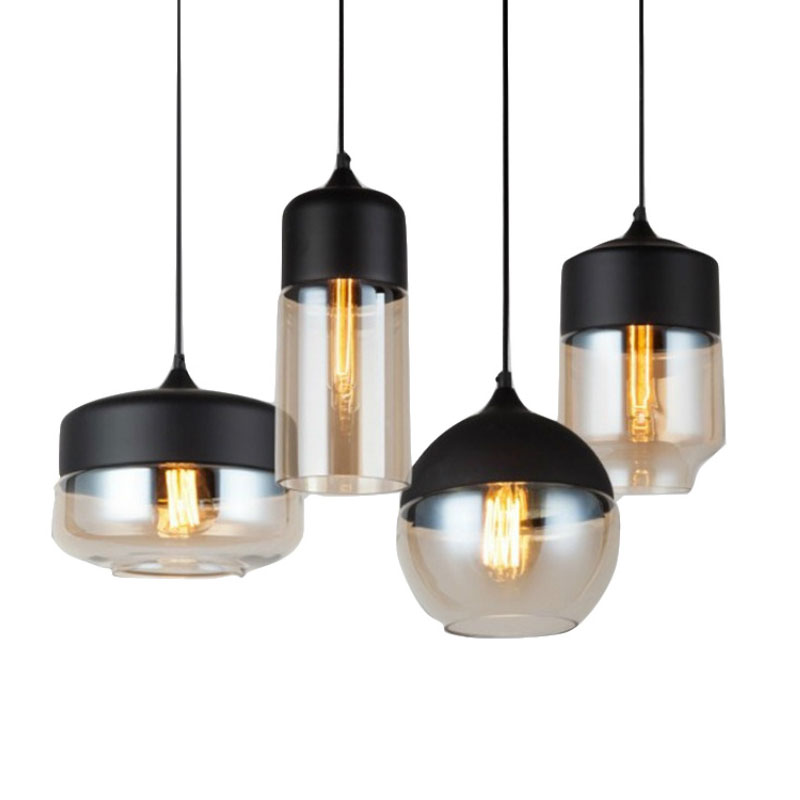 Modern Led Glass Pendant Lights Nordic Dining Room Kitchen Bar Cafe Hanging Lamp Loft Industrial Home Decor Suspension Luminaire