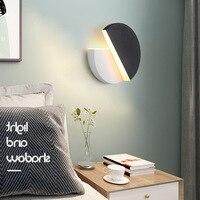 Постмодерн простой светодиодный настенный светильник проход для спальни, прихожей прикроватный вращающаяся бра Nordic Гостиная светильники