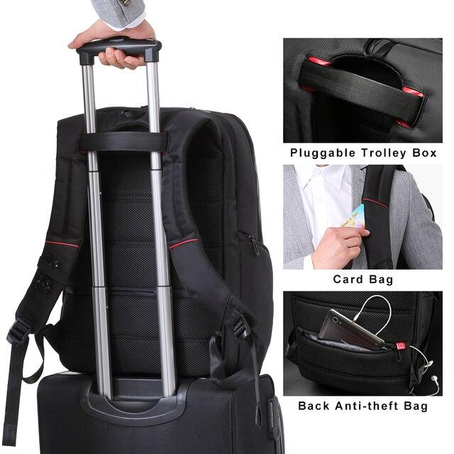 Kingsons mężczyźni kobiety modny plecak 13 15 17 Cal plecak na laptopa 20-35 litrów wodoodporny plecak podróżny tornister szkolny