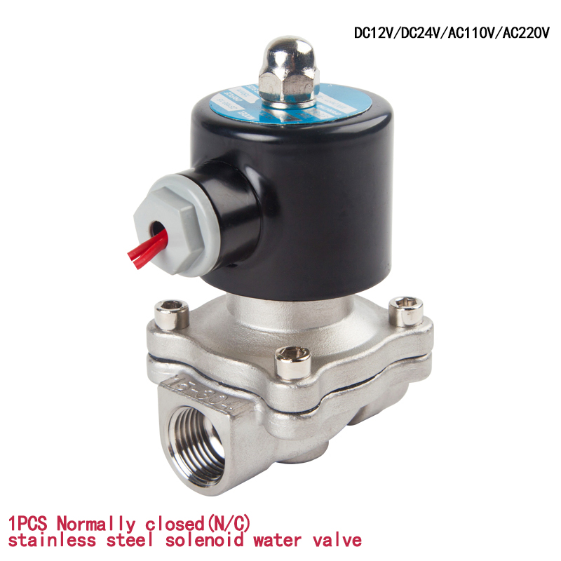 Stainless Steel Electric Solenoid Valve 1/4