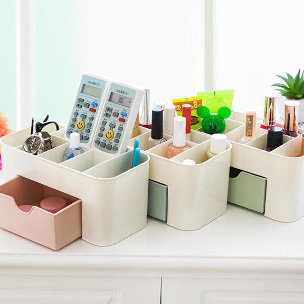 New Makeup Box Organizer Jewelry Necklace Nail Polish Earring Plastic Storage Box Home Desktop Organizer For Cosmetics