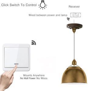 Image 5 - Беспроводной светильник, переключатель, комплект, без стены, пульт дистанционного управления, переключатели для ламп, вентиляторы, бытовая техника, 433 МГц, радиочастотный приемник по умолчанию