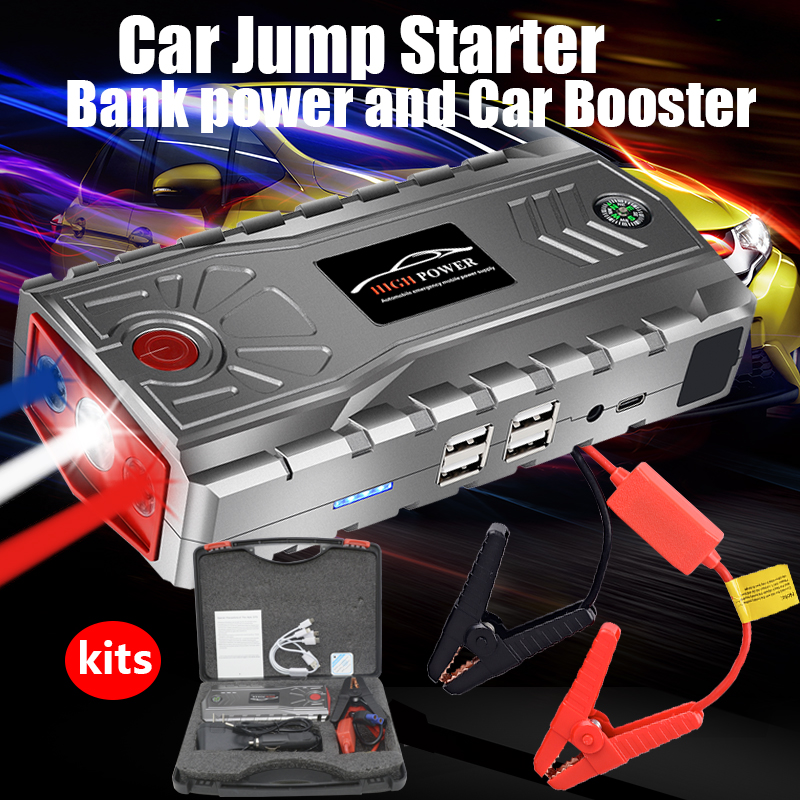 Car Battery Charger Booster 95600mAh 12V 600A Waterproof Emergency Battery Starting Device Portable Car Jump Starter Power Bank