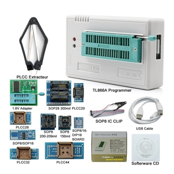 V8.33 Tl866Ii Plus Usb Universal Bios Nand Flash 24 93 25 Mcu Programmer+12 Adapters