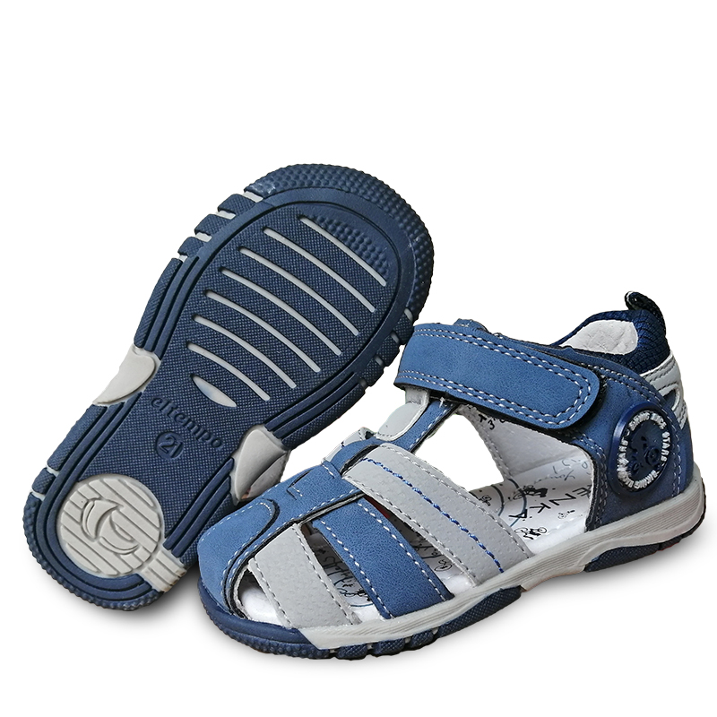 NEW 1pair Summer Boy Leather Arch Support Orthopedic Children Sandals+inner Genuine Leather, Super Quality Kids Shoes