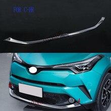 Подходит для Toyota C-HR CHR передний бампер накладка украшения автомобильные хромированные аксессуары из АБС-пластика авто Стайлинг
