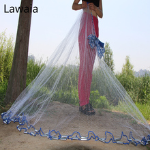 Lawaia Fishing Net Hand Cast Fishing Net Have Sinkers Throwing Cast Nets Have Sinkers Diameter 2.4m-7.2m Fishing Casting Net lawaia casting net falling hand throwing net fishing nets diamter 2 4m 4 2m high quality sports korean hand throw fishing net