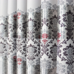 Image 2 - 1 pc New Curtains for Windows Drapes European Modern Elegant Noble Printing Shade Curtain For Living Room Bedroom