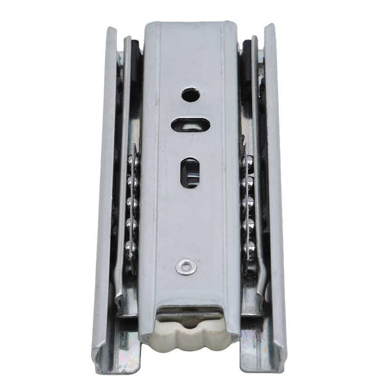 4-Inch Mini Drie-Sectie Lade Rail Staal Ballen Kasten Kasten Bearing Telescopische Volledige Uitbreiding Lade Schuif Rail hardware
