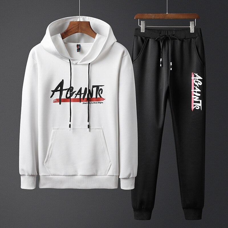 2019 Autumn New Style Men Leisure Sports Suit Teenager Students Two-Piece Set MEN'S Coat Fashion