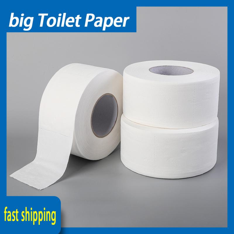 Big Toilet Paper White Toilet PaperSoft Toilet Paper Roll Tissue Natural Bathroom Tissue Water Absorption Soft 3-layers Paper