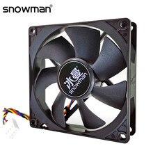 Muñeco de nieve de 90mm 4 Pin ventilador PWM 92mm ordenador ventilador con cubierta silencio 9CM ventilador de refrigeración de la CPU tranquilo ventilador de refrigeración de PC ventilador con cubierta DC12V ajustar la velocidad del ventilador