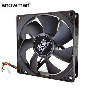 SNOWMAN 90mm 4 Pin PWM Fan 92mm Computer Case Fan Silent 9CM CPU Cooling Fan Quiet PC Cooler Fan Case Fan DC12V Adjust Fan Speed