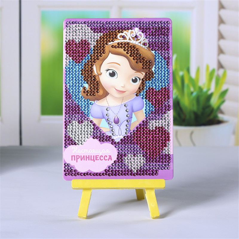 Craft Toys DIY 3D Puzzle Sofia Princess Girls Toys Mosaic Diamond Painting Educational Toys For Children SG10