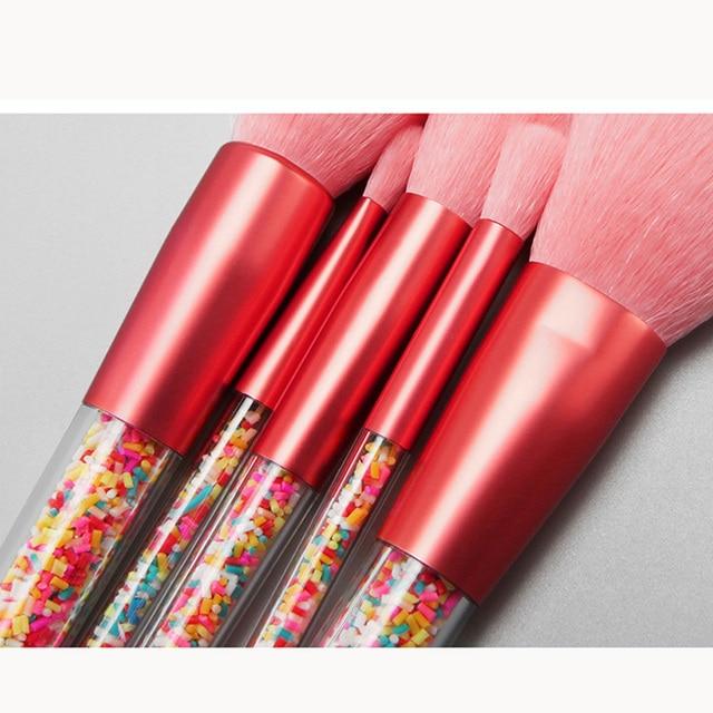 New 5pcs Lollipop Candy Unicorn Crystal Makeup Brushes Set Colorful Lovely Foundation Blending Brush Makeup Tool maquillaje 2