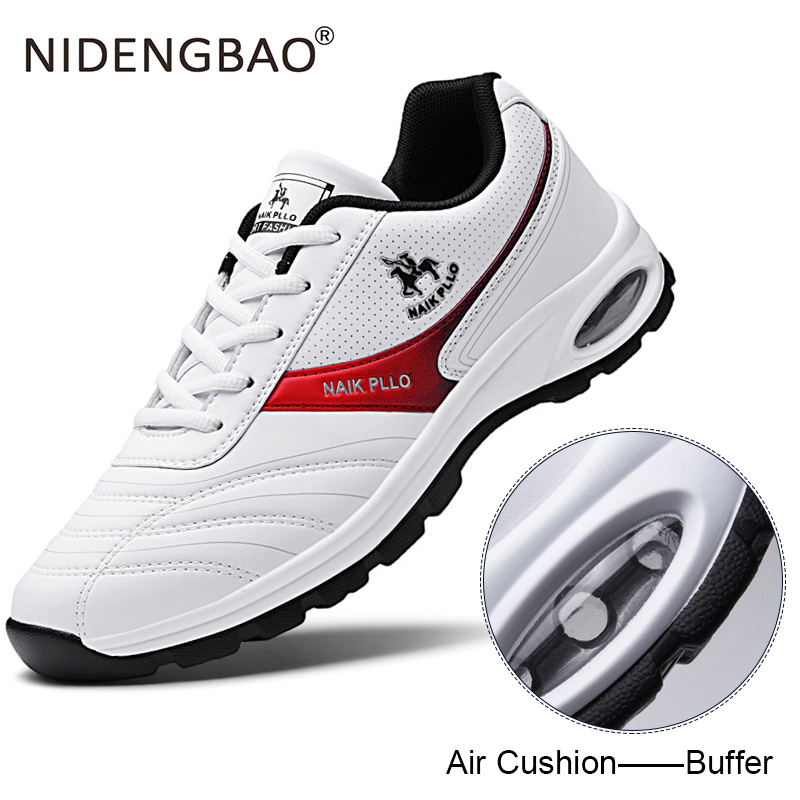 Men Running Shoes Air Cushion Sneakers Waterproof Sport Shoes Male Breathable Lace-up Casual Sneakers Bubble Men Footwear