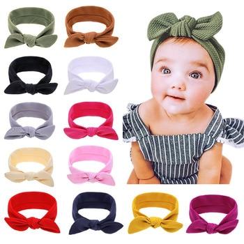 2020 New Bowknot Baby Headband Turban Hairband Bows kids Girl Headbands Hair bands for Girls accessories