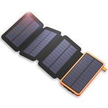 20000mAh batterie externe solaire batterie externe chargeur d'alimentation pour iPhone Samsung Huawei Smartphones Xiaomi en plein air Camping