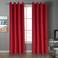 [Babe] Manufacturers Direct Selling Curtain Tablet Netherlands Velvet Curtain Half Shade Bedroom Curtain (Single)|Window Valance| |  -