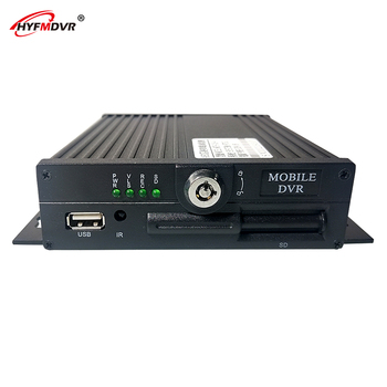 HYFMDVR 720P MDVR 4-channel AHD coaxial HD car SD card recorder truck /bus /ship / Tank truck image