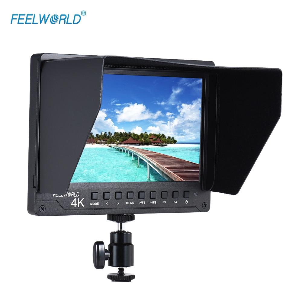 "Feelworld A737 7"" IPS Field Camera Monitor Full HD Video Display HD AV IN Support 4K Signal Histogram for Canon Nikon DSLR ILDC"