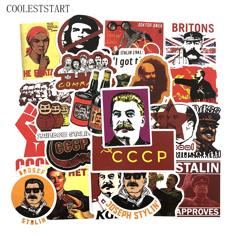 50 Pcs/Set Stalin USSR CCCP Graffiti Stickers For Luggage Laptop Notebook Motorcycle Skateboard Bicycle Diary Stationery Stickes