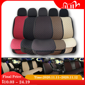 Image 1 - Large Size Flax Car Seat Cover Protector Linen Front or Rear Seat Back Cushion Pad Mat Backrest for Auto Interior Truck Suv Van