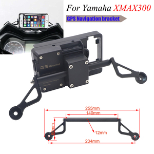 Motorcycle Front Phone Stand Holder Smartphone Phone GPS Navigaton Plate Bracket For Yamaha XMAX 125 250 X MAX300 400 2017 2018