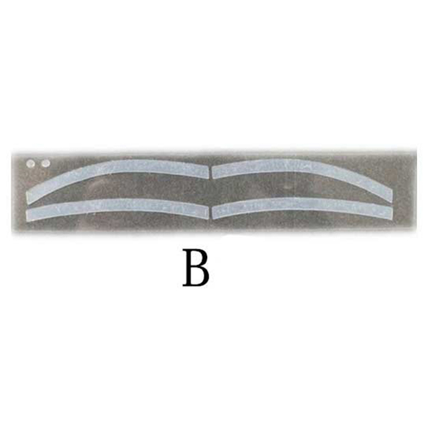 6Pairs Professinal Fashion Disposable Eyebrow Tattoo Shaping Sticker Auxiliary Template Brow Stencil Eye Grooming Makeup Tools 4
