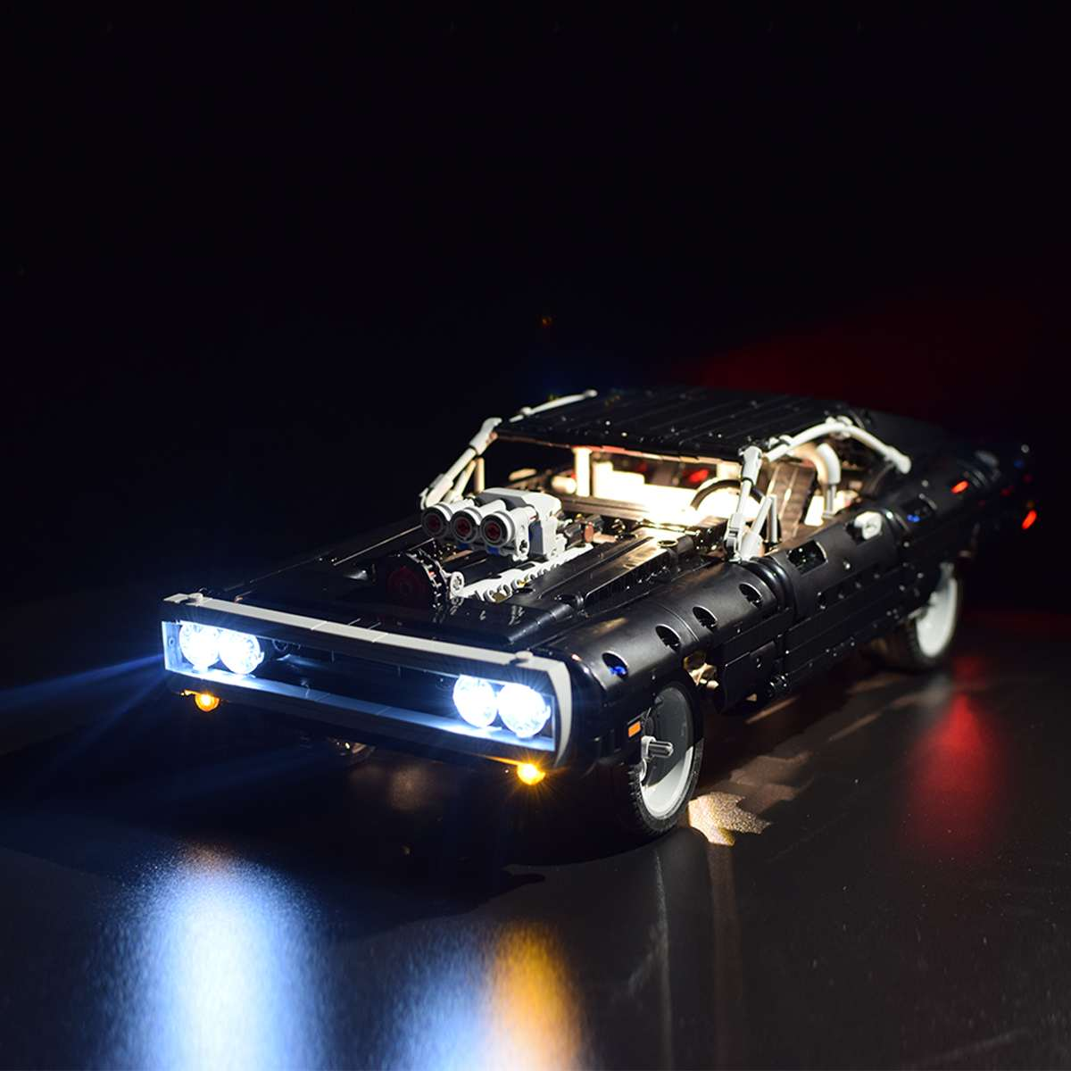 LED Light Up Kit For 42111 Technic For Doms For Dodge Charger Car Bricks Toy (Model Not Included) Lighting Set