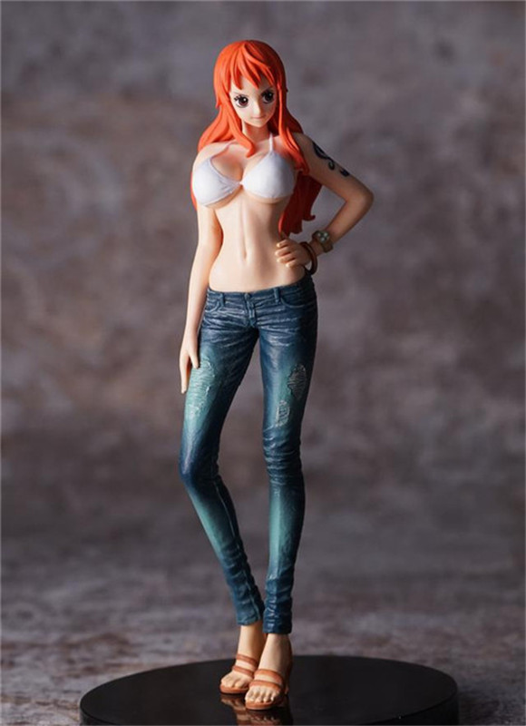 2 Type 16CM Anime One Piece Swimsuit Nami PVC Figure Toys Collectible Model Gift