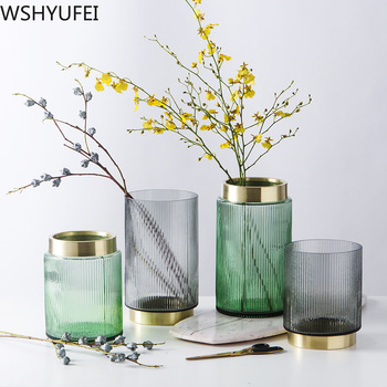 New  Light luxury glass vase Hydroponic plant Living room office desktop  decoration Studio wedding decoration Home crafts