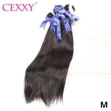 Tissage en lot brésilien Remy 100% naturel lisse – CEXXY, couleur naturelle, 28 30 32 40 pouces, Extension de cheveux