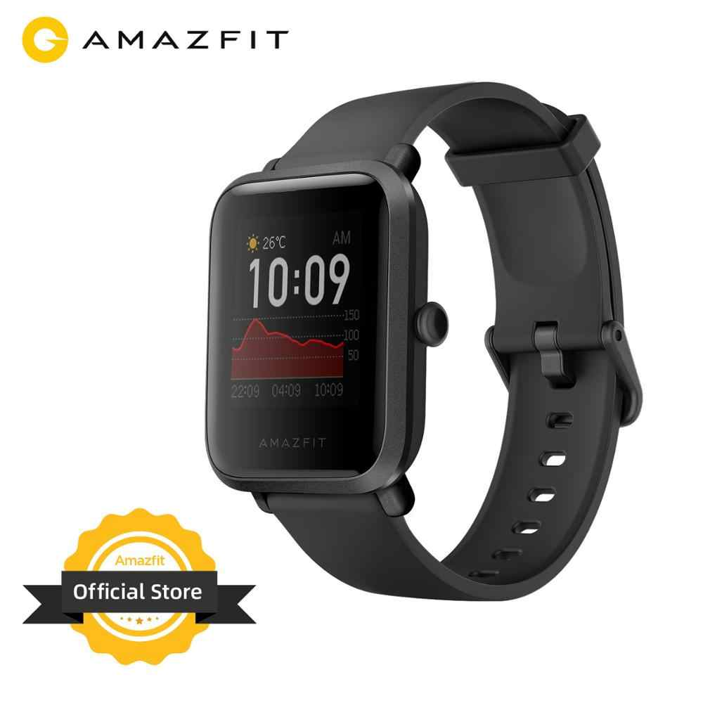 במלאי 2020 הגלובלי Amazfit ביפ S Smartwatch 5ATM waterproof נבנה GPS GLONASS Bluetooth חכם שעון עבור אנדרואיד iOS טלפון