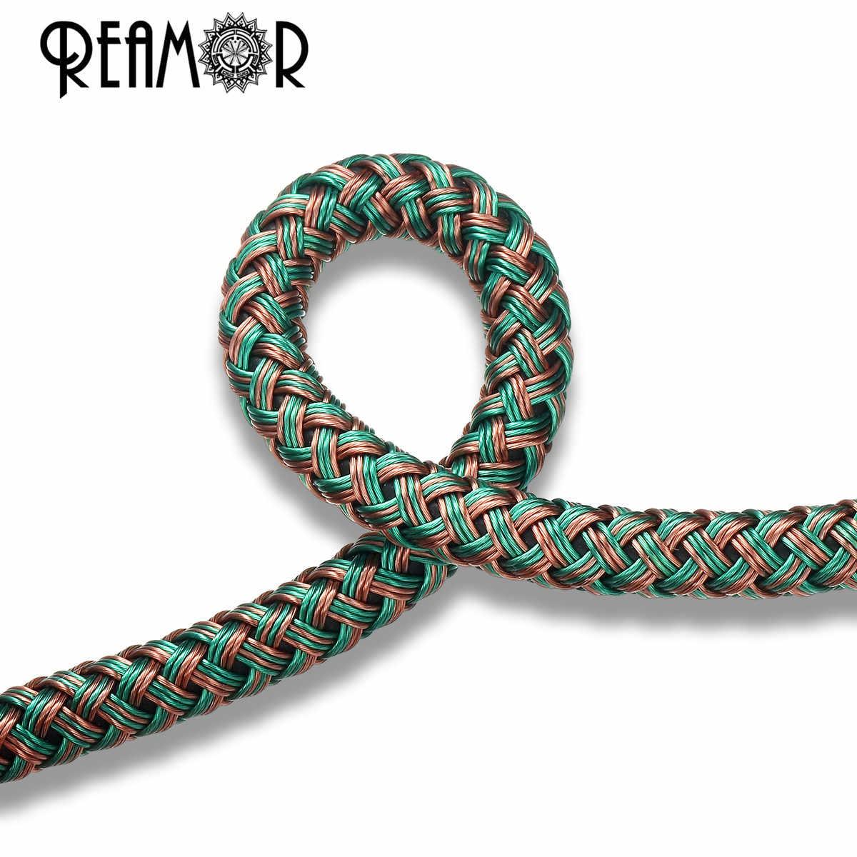Reamor 1 m cores únicas misturadas 6mm fio de aço trançado cabo de couro super fibra corda couro pulseira jóias diy descobertas