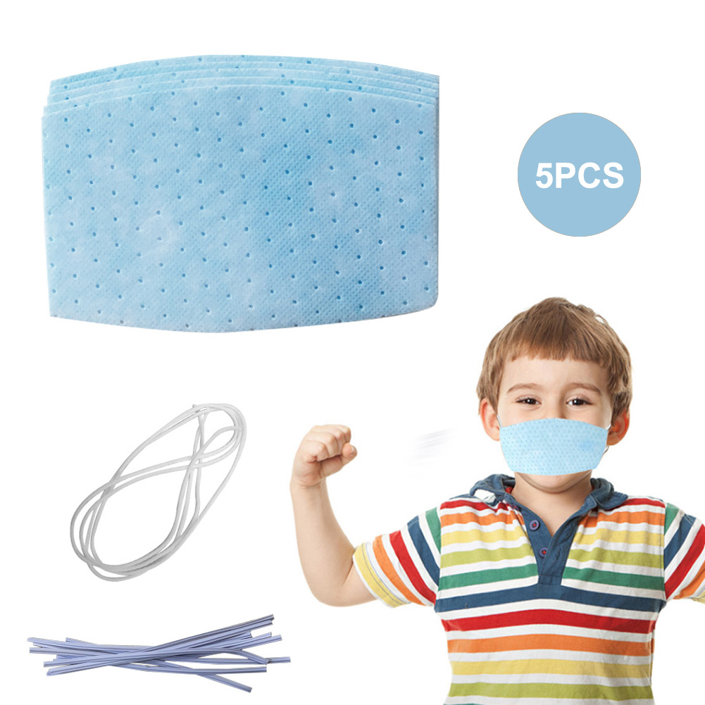 5/10 Pcs DIY Kids Mouth Mask Non Woven Disposable 3 Layers Anti-Dust Earloops Masks with Elastic Ear Loop