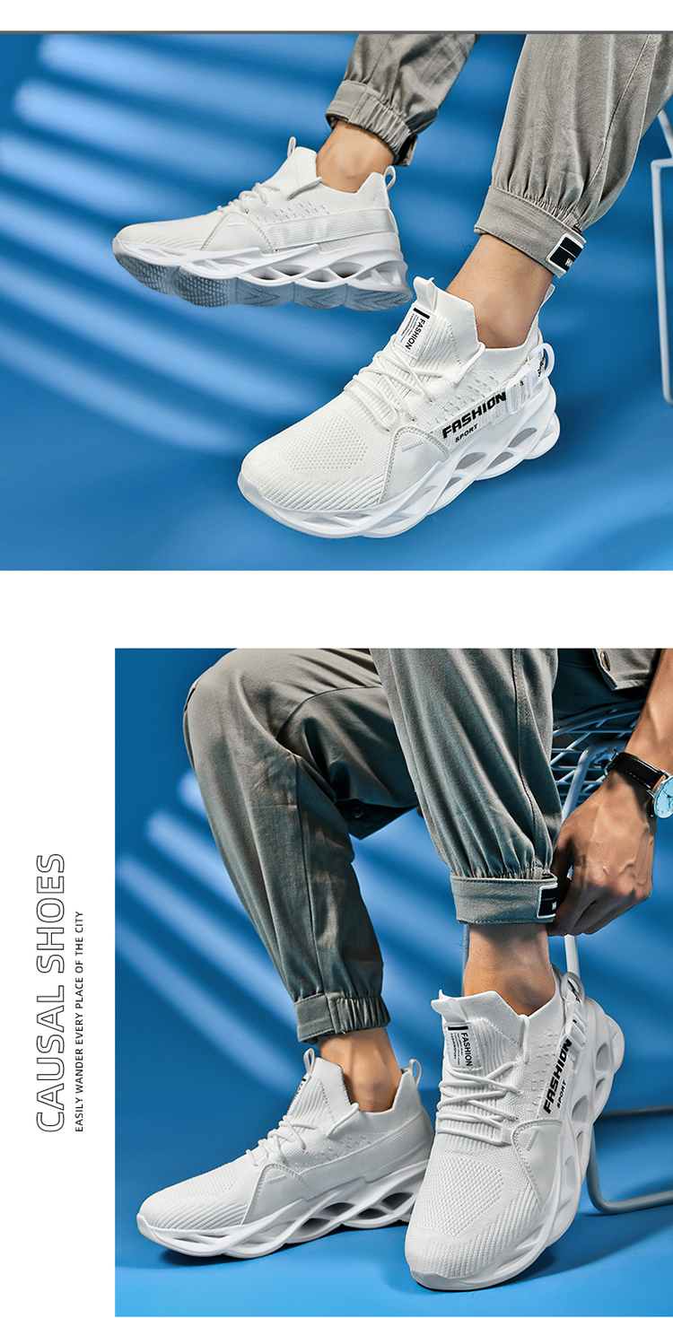 Men's shoes breathable fly weaving 2020 yezi hot style shoes trendy casual knife peak shoes summer sports running shoes me