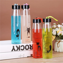 Hot glass creative sports cup insulated Cute water Portable Transparent