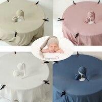 ベビーアクセサリー帽子ラップ背景セット新生児の写真の小道具ベベ背景 fotografia 写真撮影製品スタジオキット -