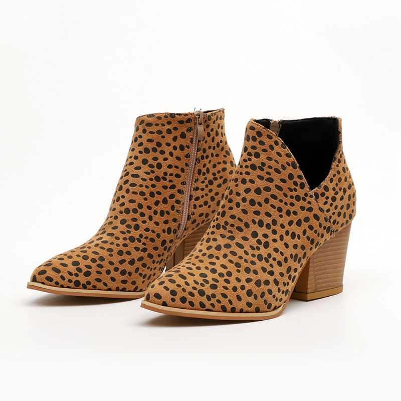LOOZYKIT 2019 Chic ฤดูใบไม้ร่วงผู้หญิงรองเท้า Retro ส้นสูงหญิง Block รองเท้าส้นสูงกลางลำลอง Botas Mujer Booties Feminina