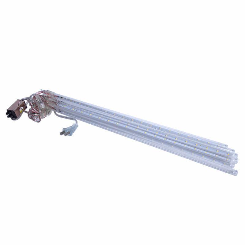 BRELONG светодиодный Метеоритный дождевой свет, наружная световая гирлянда, водонепроницаемый садовый светильник 30 см 8 трубчатый Снежный падающий свет