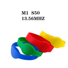 Wristband Smart-Chip-Card Rfid 1k Bracelet Access-Control NFC S50 for IC 1pcs
