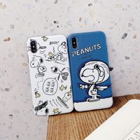 Suitable for Samsung Snoopy note10 + cartoon mobile phone case iPhone xs max couple Apple 11promax 017