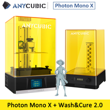 ANYCUBIC فوتون مونو X طابعة ثلاثية الأبعاد 8.9 4k LCD أحادي اللون ضخمة بناء حجم 192*120*245 مللي متر دعم APP التحكم عن بعد impresora ثلاثية الأبعاد